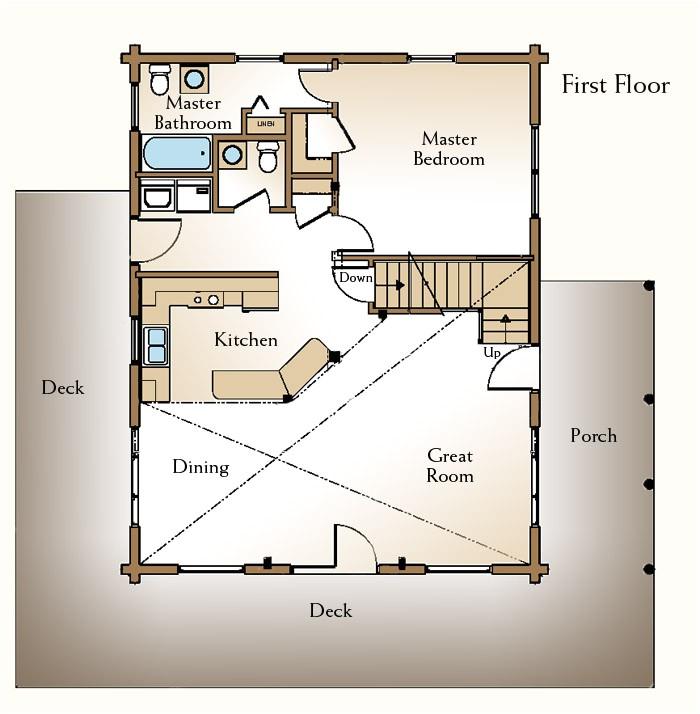 a small log home floor plan e2 80 93 the augusta