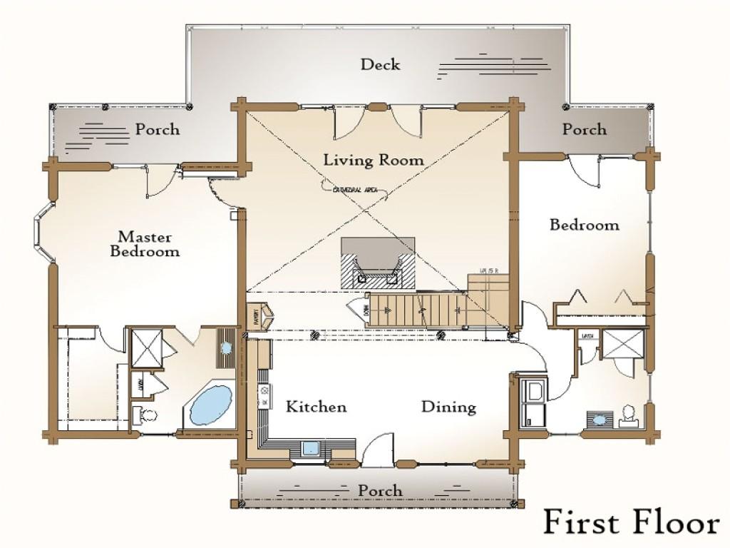 log cabin floor plans with basement