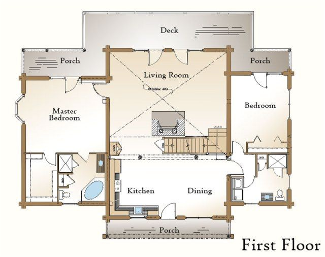 Log Home Living Floor Plans 22 Best Open Living Kitchen Dining Images On Pinterest