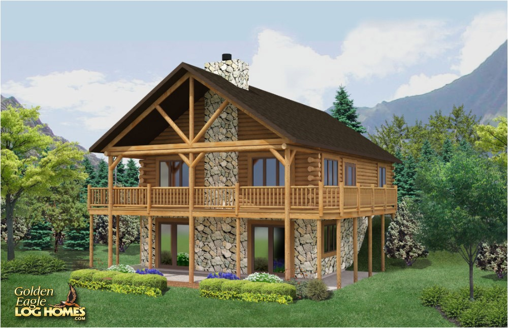 21 beautiful log home floor plans with basement