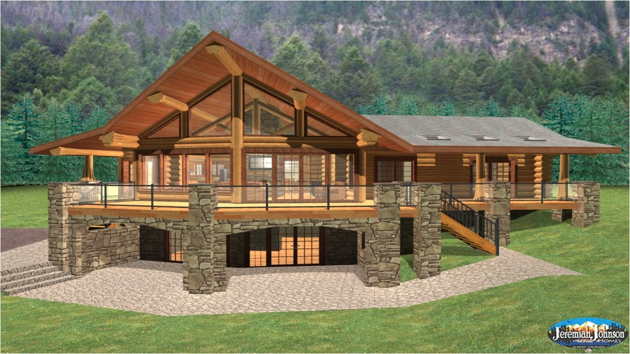 8361ee28ec739b07 log cabin home plans with basement log cabin style house plans
