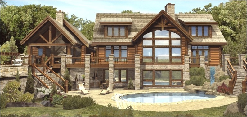 log home floor plans with basement