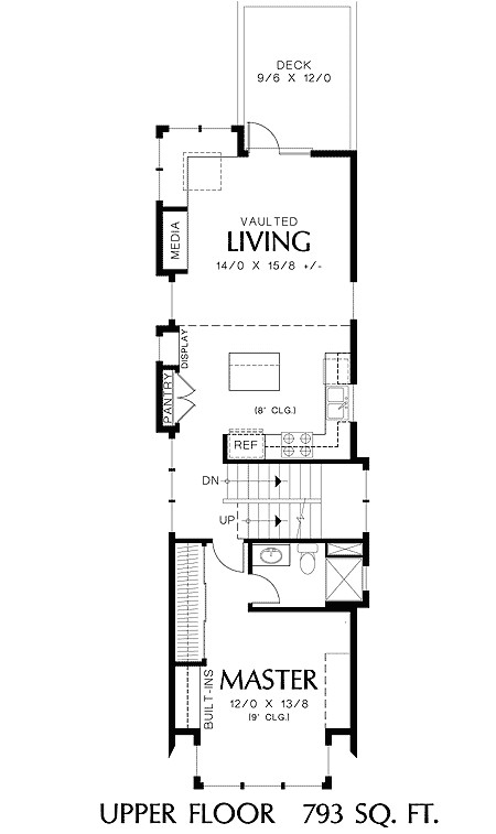 long narrow house plans