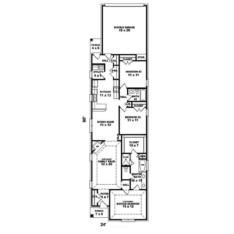 narrow house plans with rear garage long narrow lot house 9eda6b91246341c9