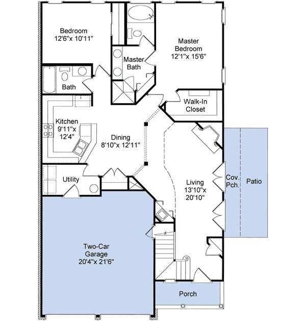 perfect narrow lot plan 6063rc