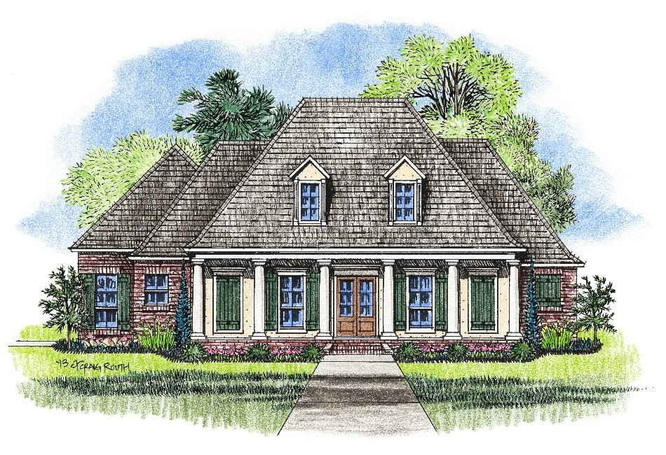 Louisiana Style Home Plans Louisiana House Plans Smalltowndjs Com