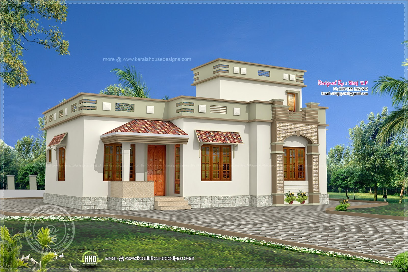 Low Budget Home Plans In Kerala Low Budget Kerala Style Home In 1075 Sq Feet House