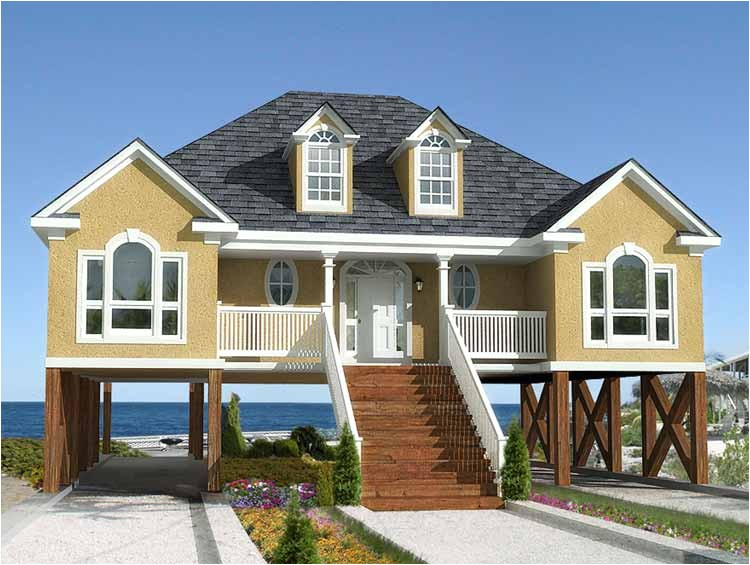 low country or beach home plan 60053rc