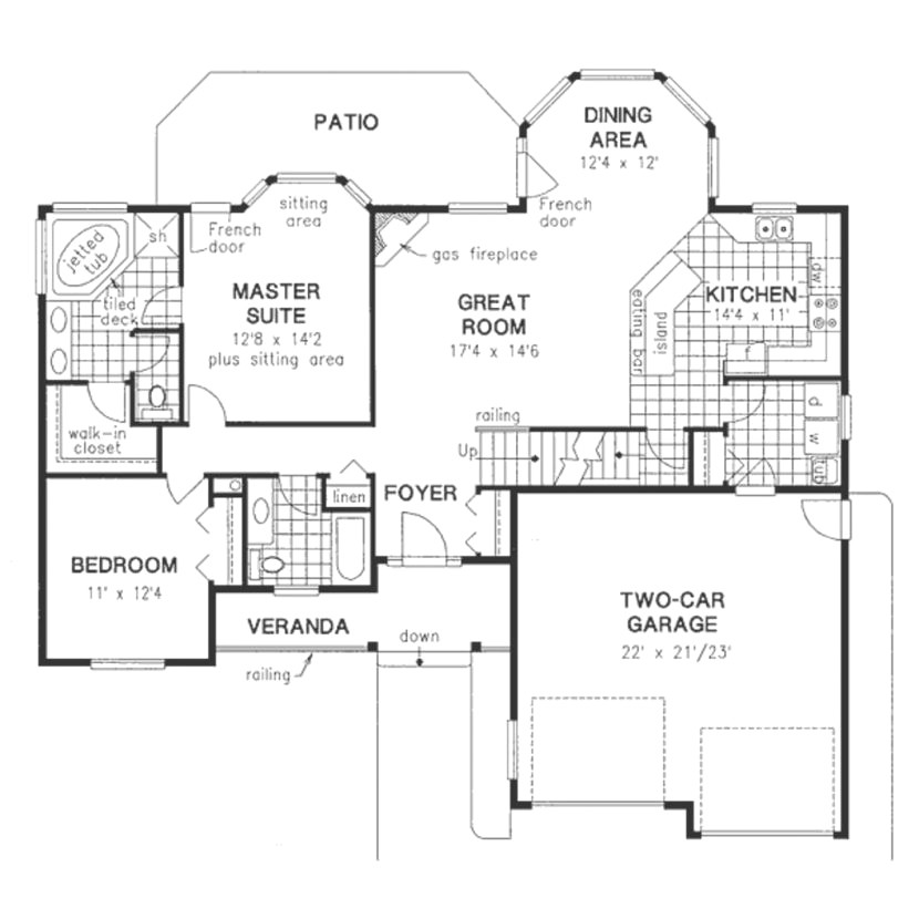 luxury empty nester house plans