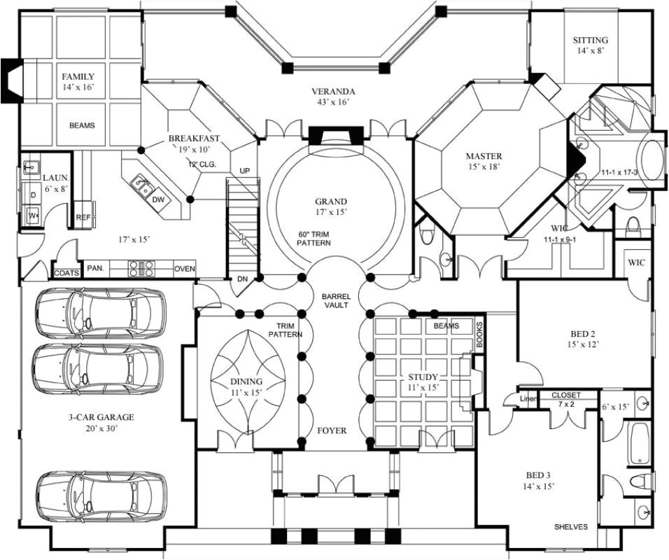 luxury home floor plans with pictures