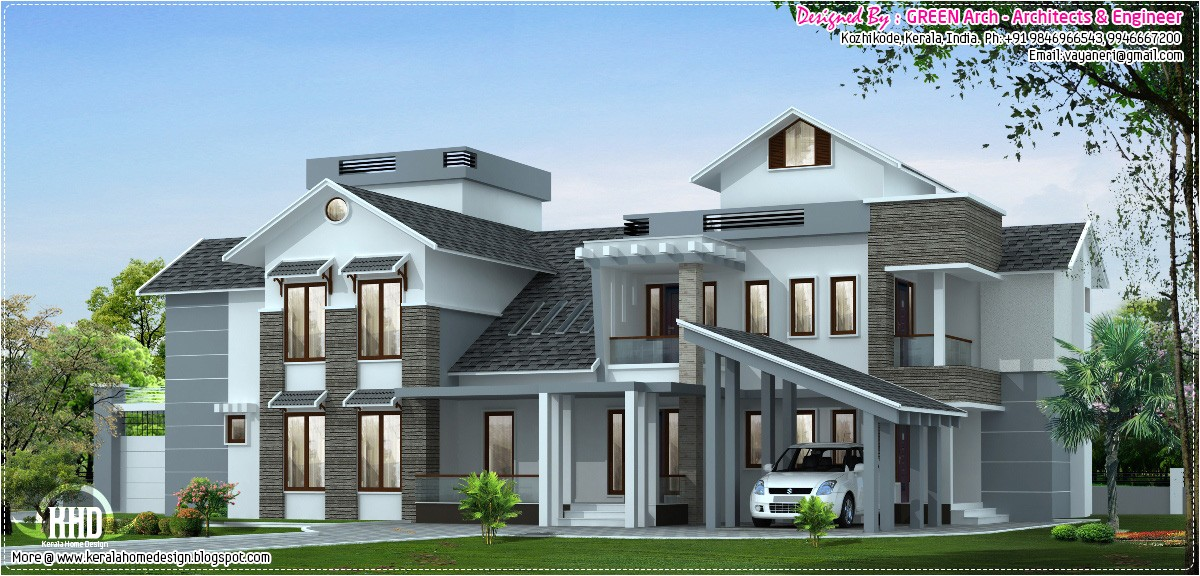 Luxury Home Plans 2018 January 2013 Kerala Home Design and Floor Plans