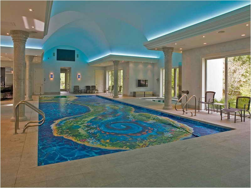 luxury home plans with indoor pool