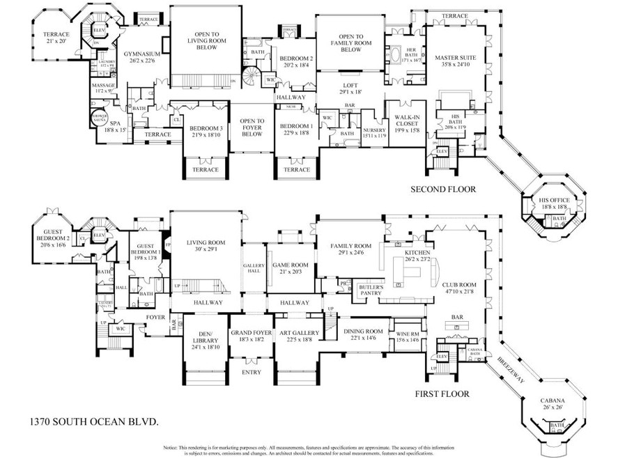 luxury house plans 20000 sq ft