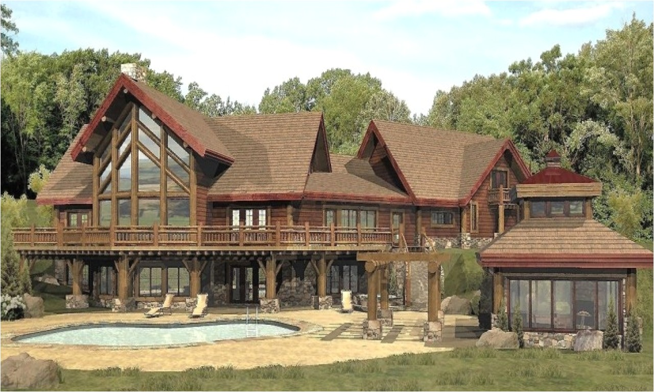 b620beac507f9086 large log cabin home floor plans luxury log cabin homes