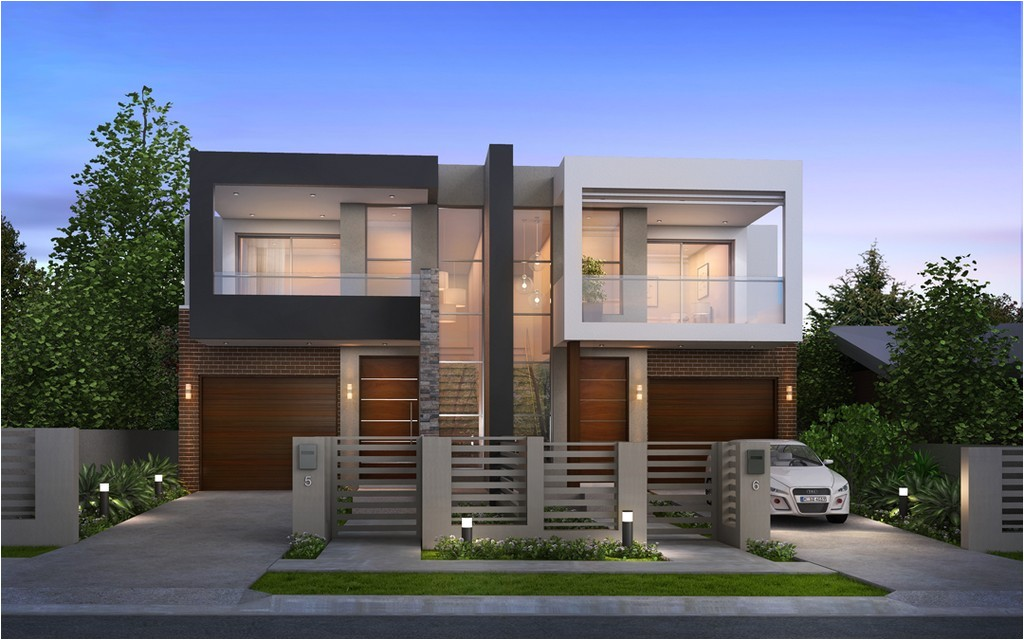 luxury modern duplex home plans