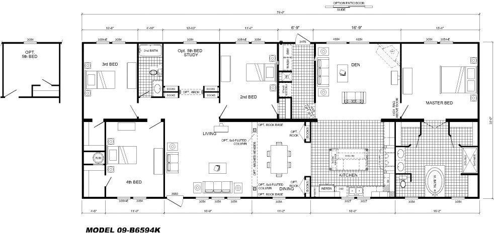 large modular home floor plans luxury modular home floor plans 4 bedrooms bedroom floor plan b 6594