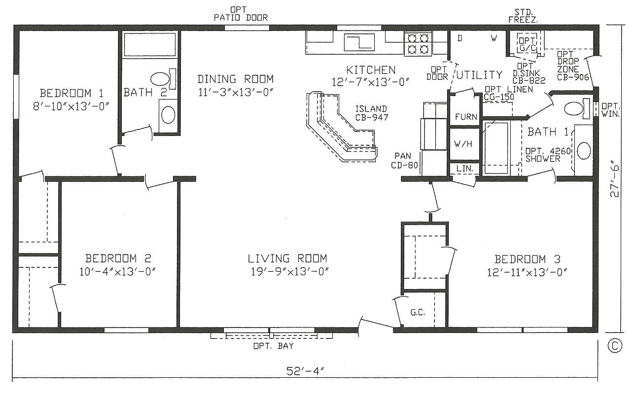 open floor plan modular homes luxury 3 level split floor plans split level bungalow house plans