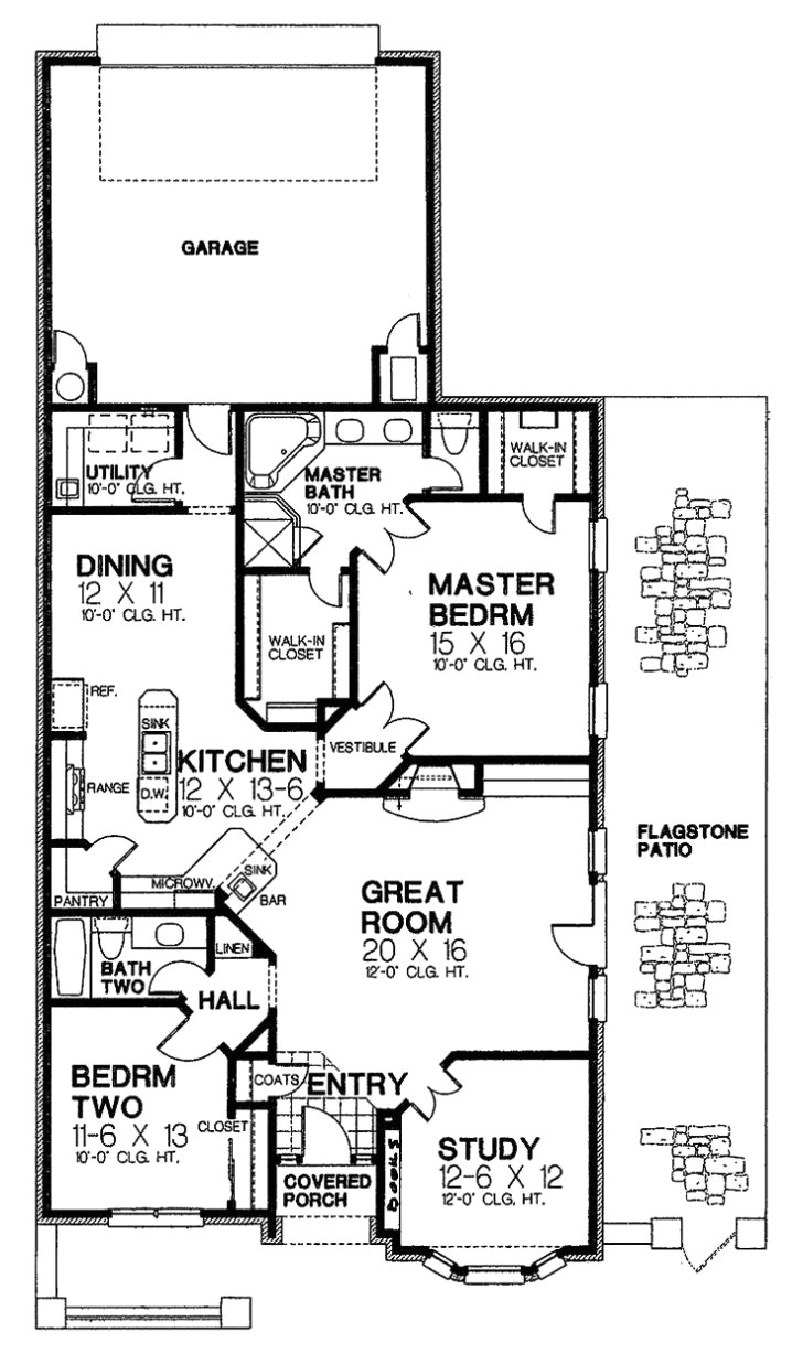 1 story retirement house plans