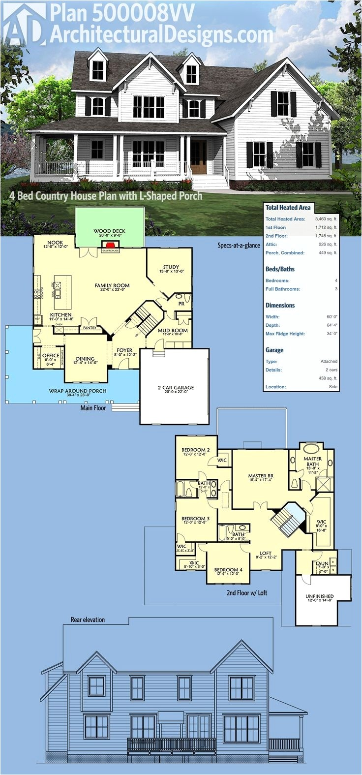 one bedroom retirement house plans