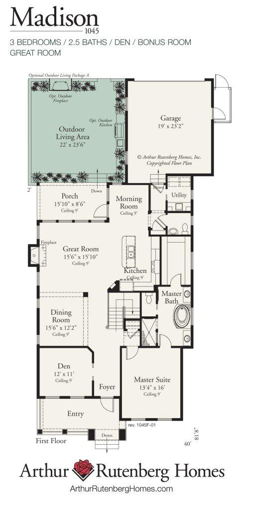 madison 1045 manor lot plan