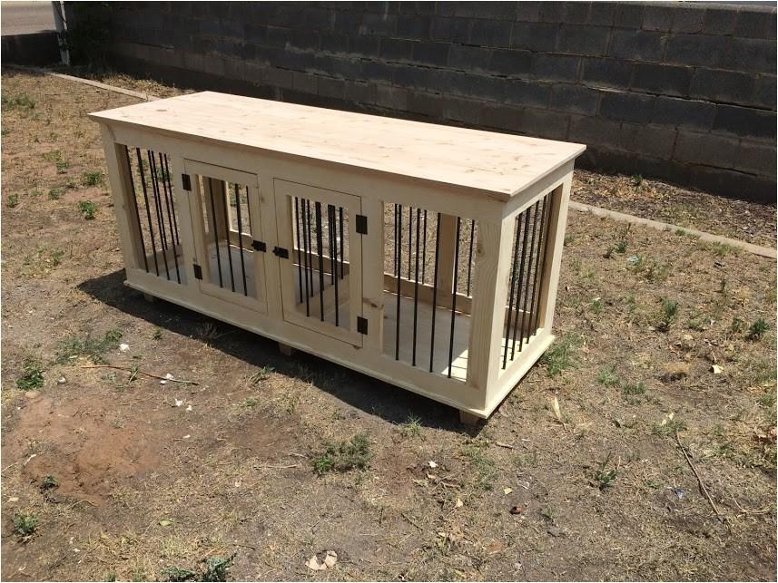 custom double dog kennel