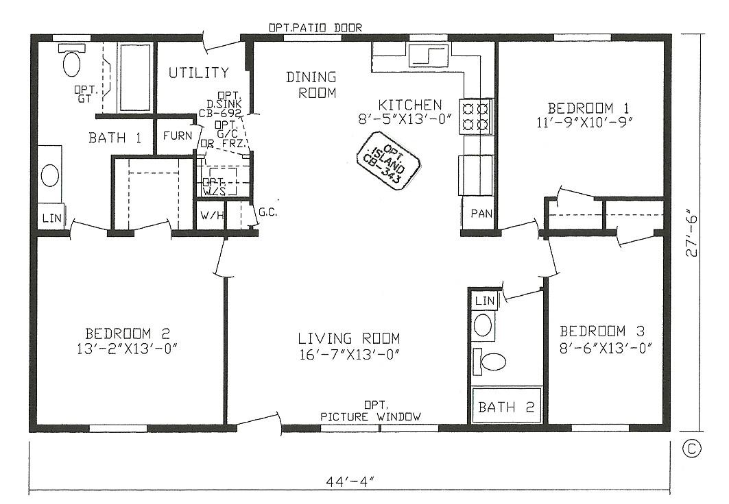 2 bedroom 2 bath open floor plans