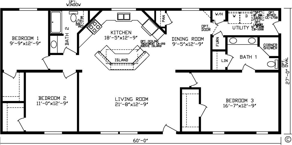 3 bedroom 2 bath open floor plans