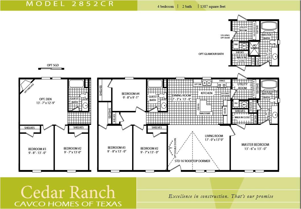cavco homes floor plans luxury 3 bedroom 2 bath floor plans cool 3 bath double wide manufactured