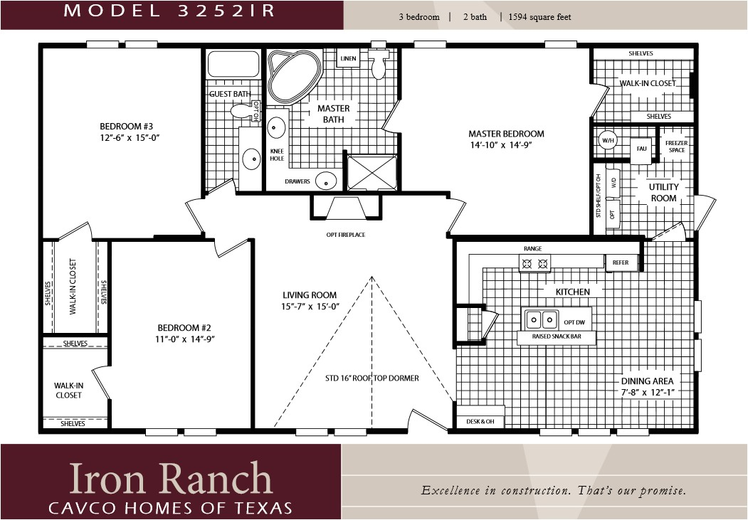 pretty 3 bedroom 2 bath house plans on cavco homes double wides texas manufactured homes 3 bedroom 2 bath house plans