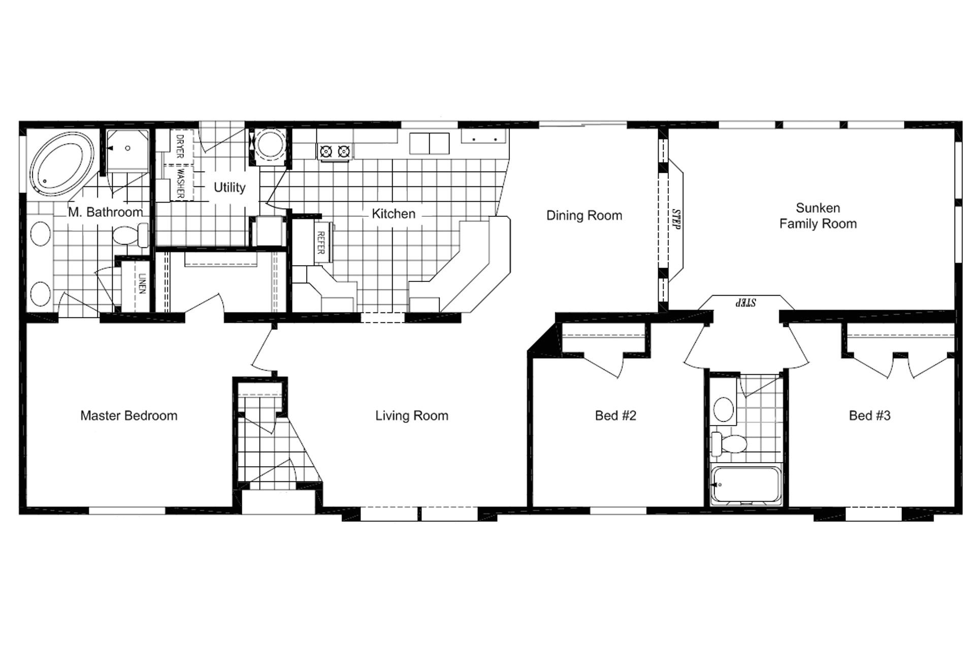 manufacturedhomefloorplan floorplan 4176 state ut city eden