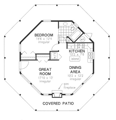 small hexagon house plans