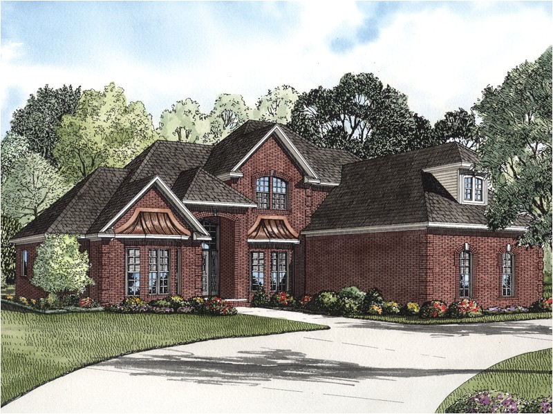 Masonry Home Plans Eldred Luxury Brick Home Plan 055s 0067 House Plans and More