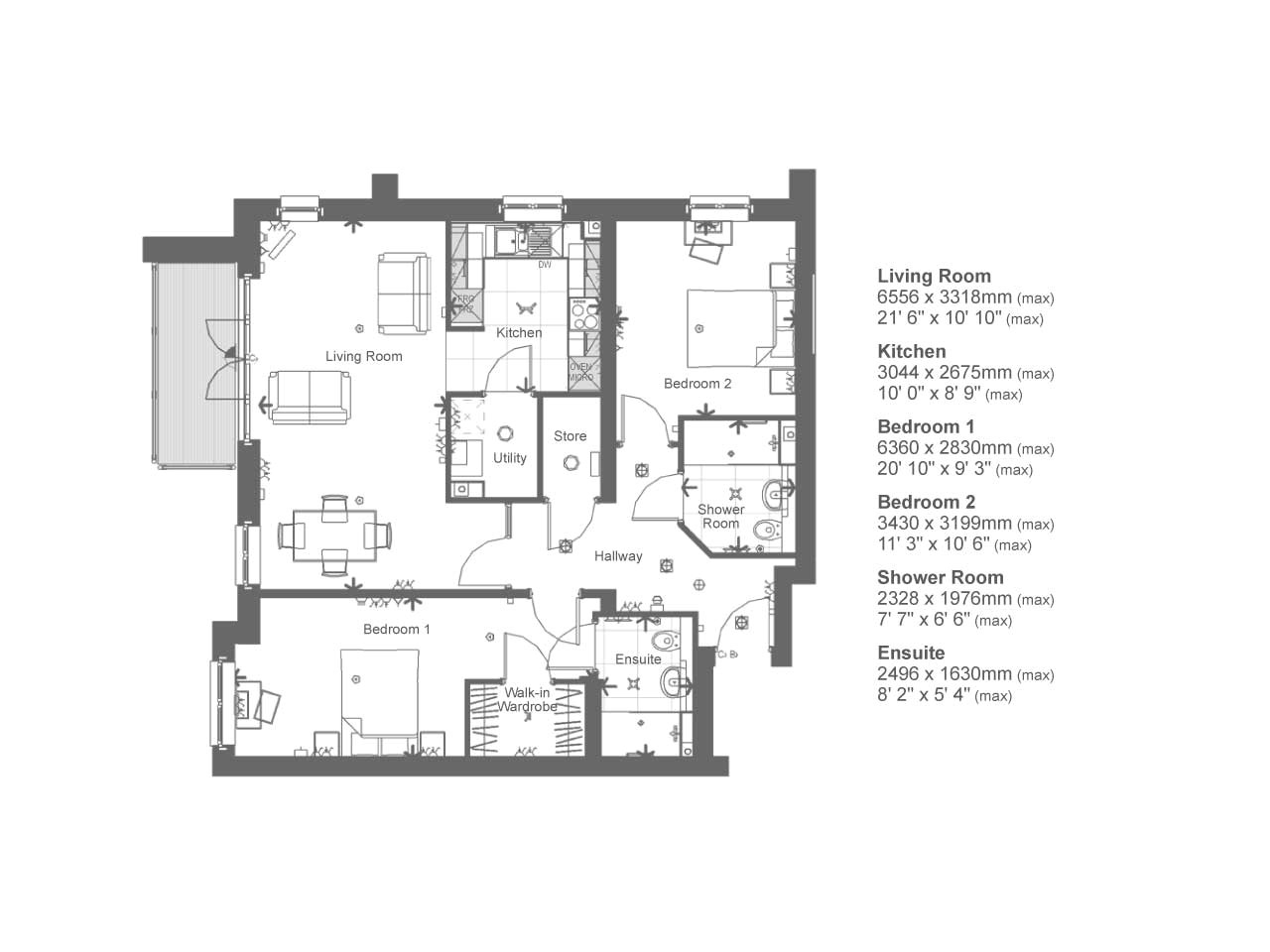 2 bed retirement property 86926