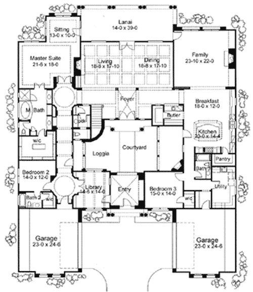Mediterranean Courtyard Home Plans Plan 16826wg Exciting Courtyard Mediterranean Home Plan