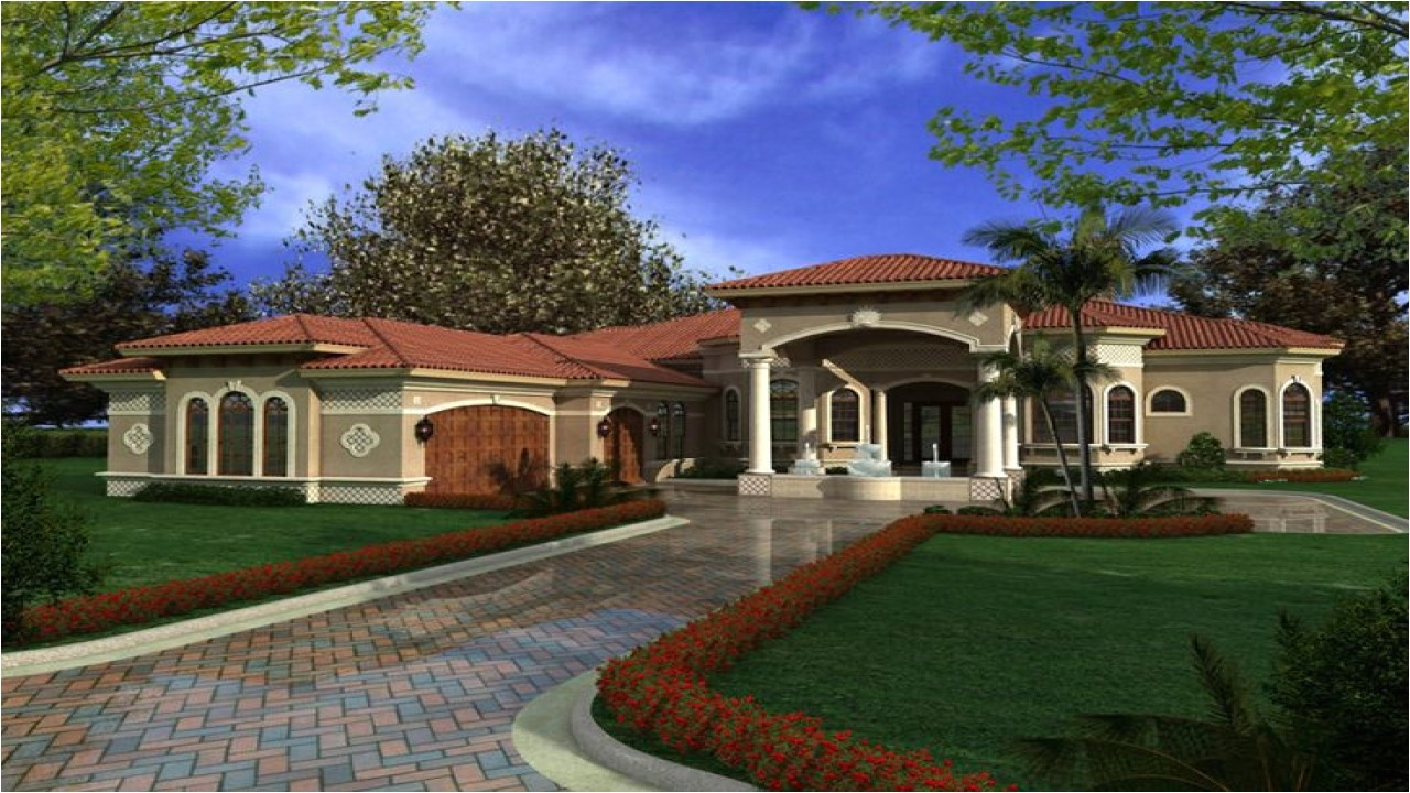 893b7f95fa70ba75 one story mediterranean house plans mediterranean houses with courtyards