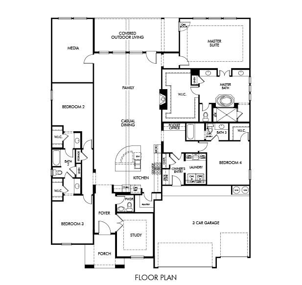 floor plan friday sydney meritage homes