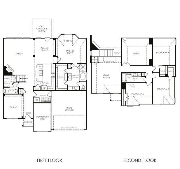 meritage homes floor plans houston
