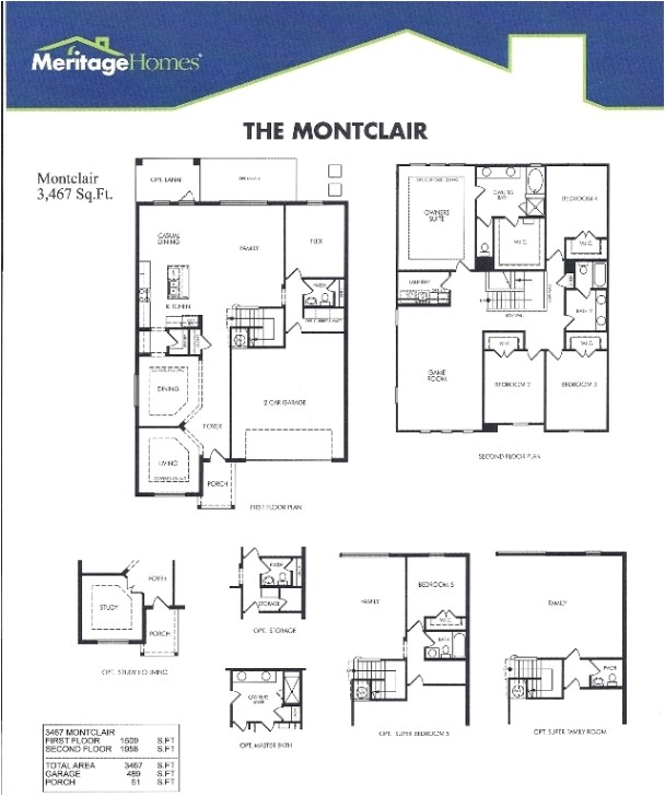 luxury meritage homes floor plans