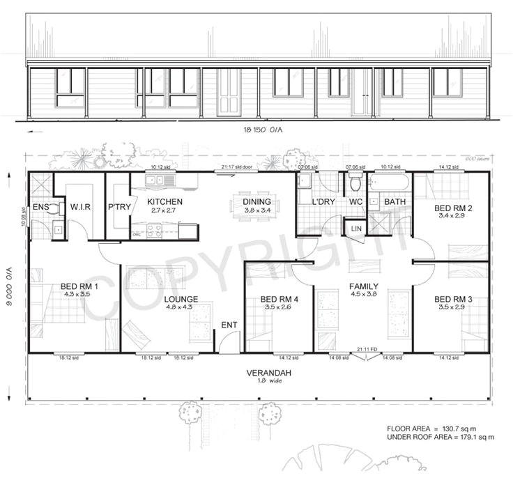 metal ranch house floorplans earlwood 4 met kit homes 4 bedroom steel frame kit home floor plan
