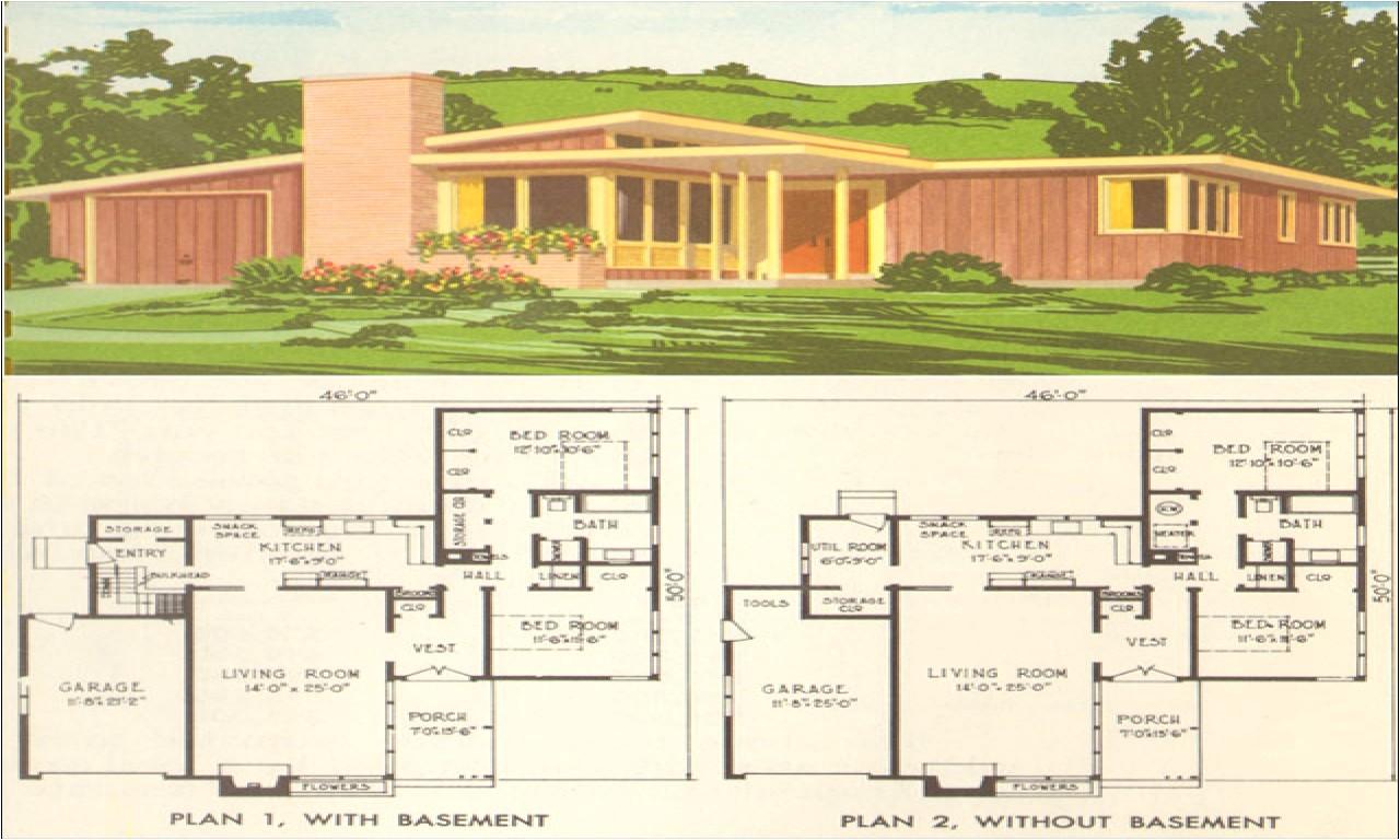 50s modern home design