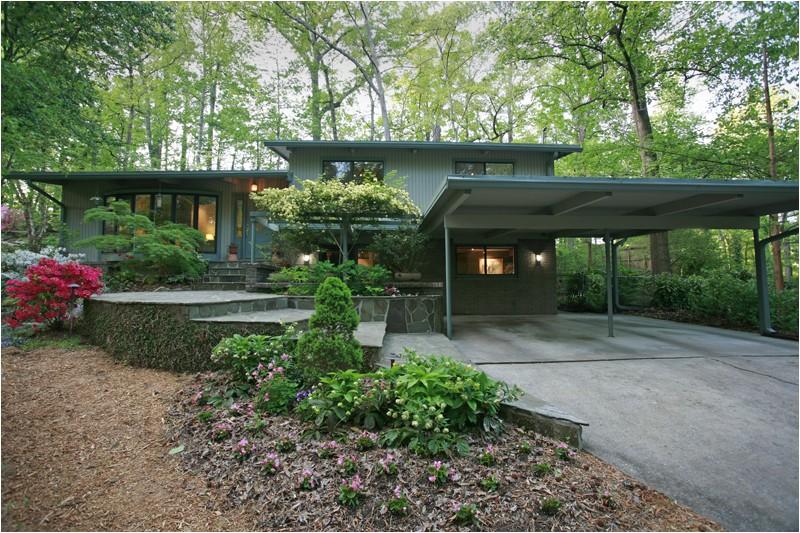 a mid century modern garden retreat