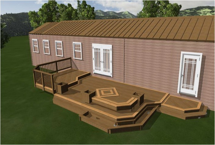 plans for mobile home decks