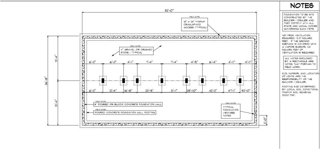 modular home foundation diagram