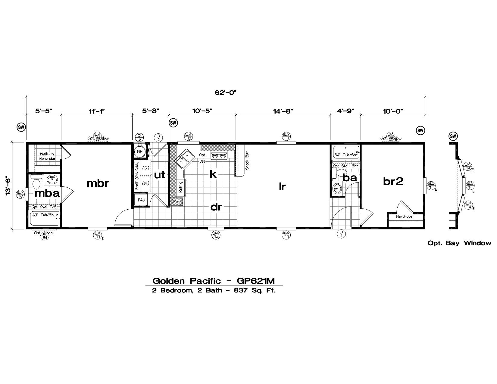 1999 oakwood mobile home floor plans