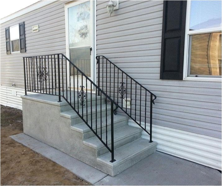 prefab landing and steps