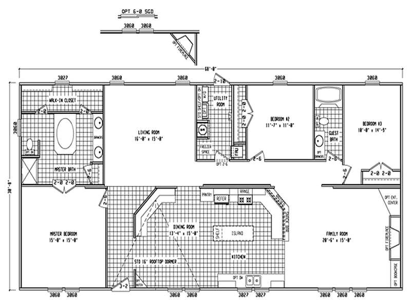 double wide mobile home floor plans the size
