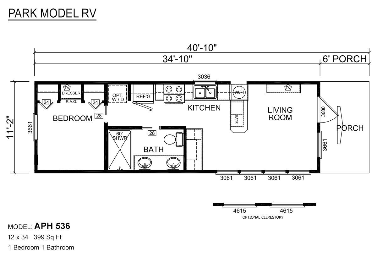 park model floor plans