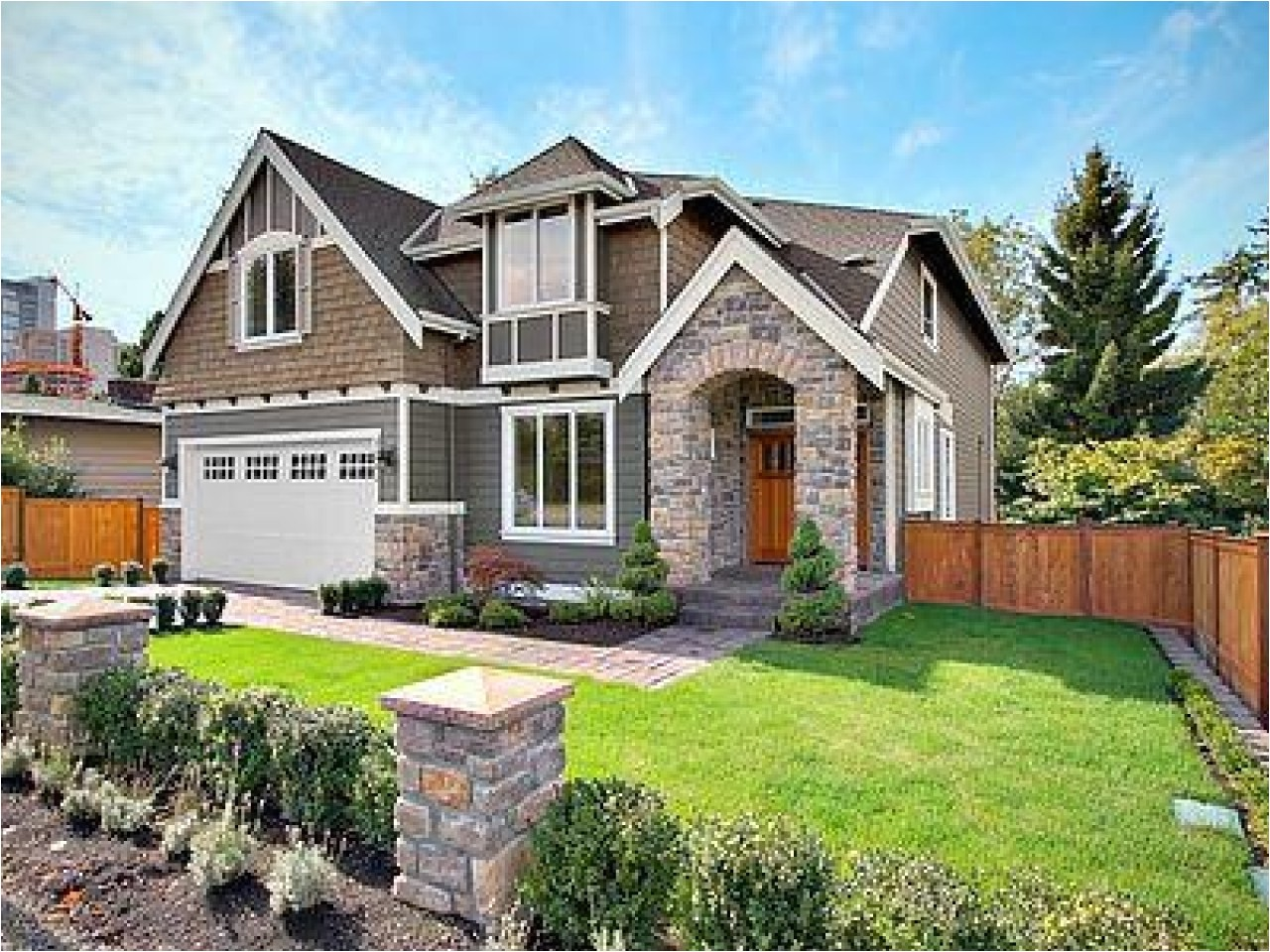 contemporary craftsman style house plans