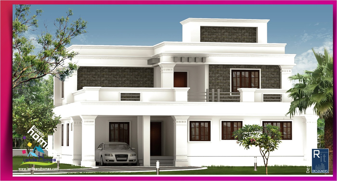 Modern Estate Home Plans Modern House Plans In Kannur Keralareal Estate Kerala Free
