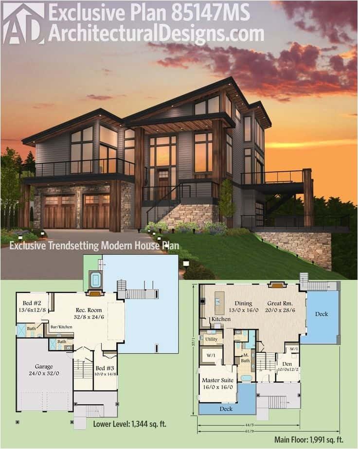 7 modern house plans samples